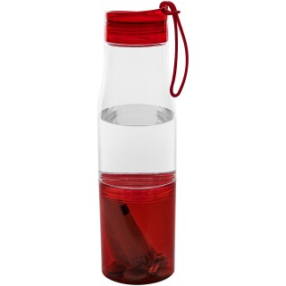 Hide away bottle, transparent,red