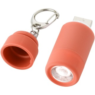 Avior rechargeable LED USB keychain light, red