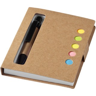 Reveal coloured sticky notes booklet with pen, natural
