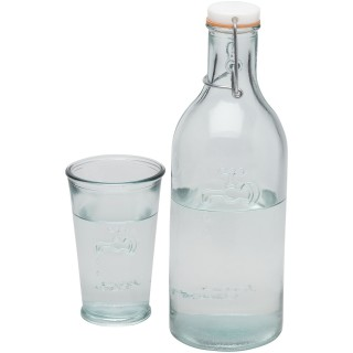 Ford water carafe made from recycled glass, transparent