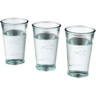 Ford 3-piece water glass set from recycled glass, transparent clear