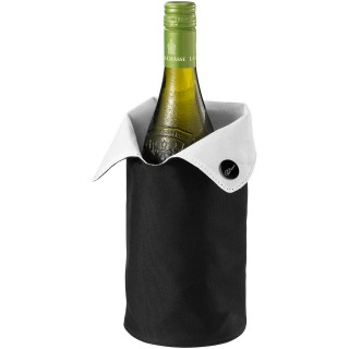 Noron foldable wine cooler sleeve, shiny black,white