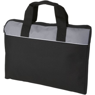Tampa conference bag, solid black,grey