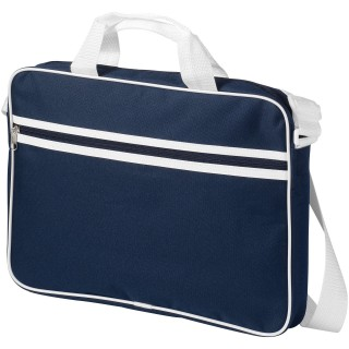 "Knoxville 15.6"" laptop conference bag, navy,white"