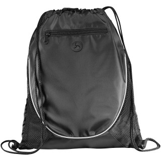 Peek drawstring backpack, solid black