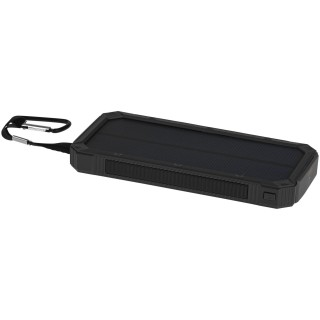 Peak 10,000 mAh solar power bank, solid black