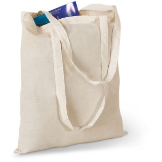 Shopping bag with long handles 'Cottonel', beige