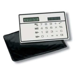Solar slim card calculator 'Monte Vista', white