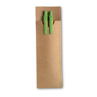 Set of pencil and ball pen 'Greenset', lime