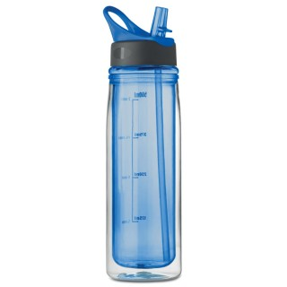 Double wall drinking bottle 'Double', royal blue