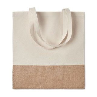 Shopping bag jute details 'India Tote', beige
